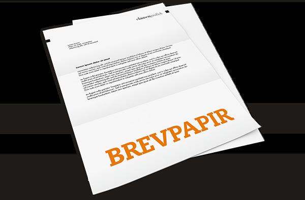 brevpapir med eget logo fås i mange oplag.
